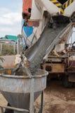 Mixed concrete pouring Royalty Free Stock Photo