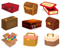 Mixed containers. Illustration of various containers and boxes Royalty Free Stock Photos