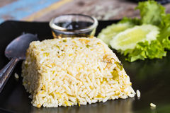 Mixed cooked rice with fried Royalty Free Stock Image