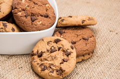 Mixed Cookies in a bowl Stock Photo