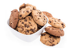 Mixed Cookies in a bowl on white Stock Photography