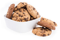 Mixed Cookies in a bowl on white Royalty Free Stock Image