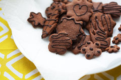 Mixed Cookies on a white plate Royalty Free Stock Image