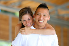 Mixed Couple Fun Stock Photos