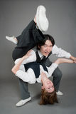 Mixed Couple Jazz Dancers Royalty Free Stock Photography
