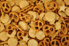 Mixed crackers. At on background Royalty Free Stock Images