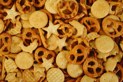 Mixed crackers background Stock Photos