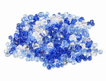 Mixed crystals - blue, violet, tranparent Stock Photography