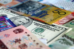 Mixed Currencies Stock Photography