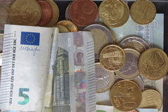 Mixed currencies background Royalty Free Stock Photo
