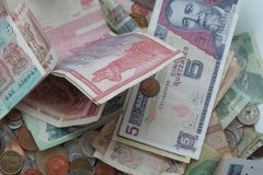 Mixed currency Royalty Free Stock Images
