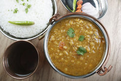 Mixed dal is a combination of lentils and fresh spices. Mixed dal made of boiled lentils cooked with fresh Indian spices and tadka (tempering) of tomatoes, curd Royalty Free Stock Photos