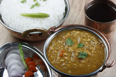 Mixed dal curry with rice from India Stock Images