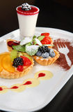 Mixed desert plate Royalty Free Stock Image