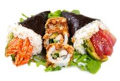Mixed dish of sushi food Stock Image