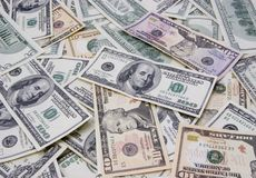 Mixed dollars background Stock Photo