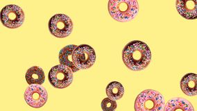 Mixed donuts background stock illustration