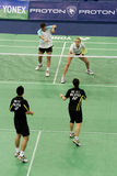 Mixed Doubles Badminton Stock Photography