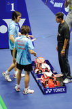 Mixed Doubles,Badminton asia championships 2011 Royalty Free Stock Image