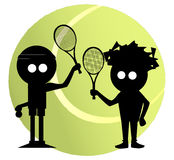 Mixed Doubles Royalty Free Stock Photography