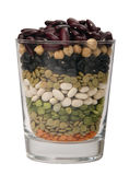Mixed dried beans Stock Photo