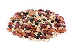 Mixed dried beans Royalty Free Stock Photography