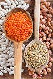 Mixed Dried Beans Royalty Free Stock Photos