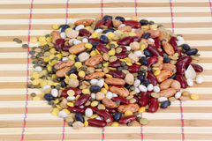 Mixed dried beans. Close up for background Royalty Free Stock Image