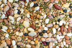Mixed Dried Beans. On a market Royalty Free Stock Images