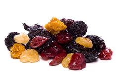 Mixed dried berries cutout Stock Photography