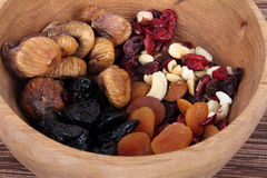mixed dried fruit Stock Image
