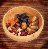 Mixed dried fruit Stock Photos