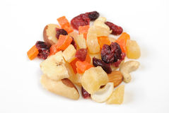 Mixed Dried Fruit And Nuts Royalty Free Stock Photography