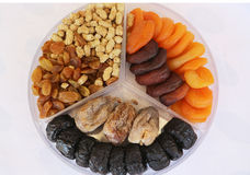 Mixed dried fruit Royalty Free Stock Photo