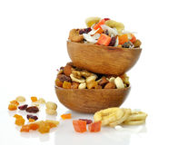 Mixed dried fruit, nuts and seeds Stock Image