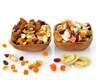 Mixed dried fruit, nuts and seeds Stock Photography