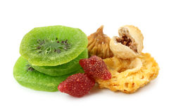 Mixed dried fruits Royalty Free Stock Photos