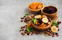 Mixed dried fruits Royalty Free Stock Photos