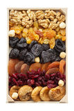 Mixed dried fruits and nuts royalty free stock photos