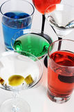 Mixed drinks Royalty Free Stock Images