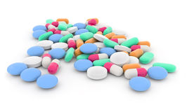 Mixed drugs Royalty Free Stock Photography