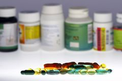 Mixed drugs Stock Images