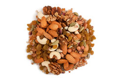Mixed dry fruits Stock Photos