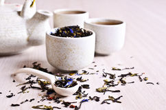 Mixed dry tea Royalty Free Stock Images