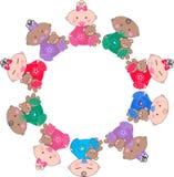 Mixed ethnic babies. Mixed ethnic baby boys and baby girls Royalty Free Stock Image
