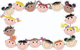 Mixed ethnic boys and girls stock image