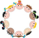 Mixed ethnic boys and girls Royalty Free Stock Image