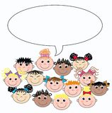 Mixed ethnic children vector illustration