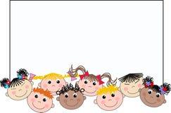 Mixed ethnic children stock photography