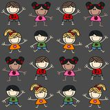Mixed ethnic children background royalty free stock photo